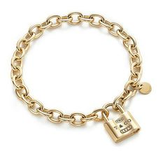 Tiffany & Co 1837 Lock Charm Gold Bracelet