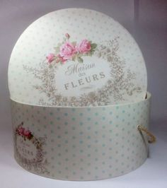 Image result for shabby chic hat boxes