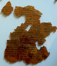 Isaiah Scroll fragment....more than one Isaiah scroll was found amongst the Dead Sea Scrolls
