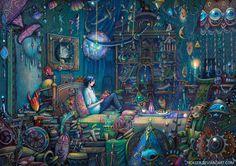 Howl's room by nokeek.deviantart.com on @DeviantArt