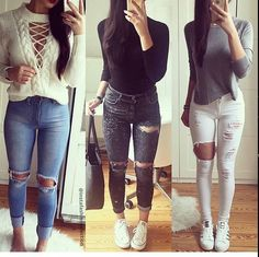 Cute warm outfits sweater outfit idea fall summer winter spring date simple for school Fall Outfits 2018, Winter Outfits For Work, Warm Outfits, Preppy Outfits, Casual Winter Outfits, Sweater Outfits, Florida Outfits, Cute Outfits For School, College Outfits
