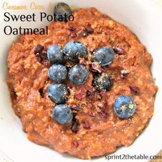 Cocoa Cayenne Sweet Potato Oatmeal by Sprint 2 the Table