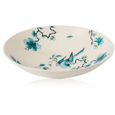 Wedgwood  Blue Bird Centerpiece Bowl (105 CAD) ❤ liked on Polyvore featuring home, kitchen & dining, serveware, blue, blue bowl, wedgwood, floral centerpieces, wedgwood bowl and blue centerpieces