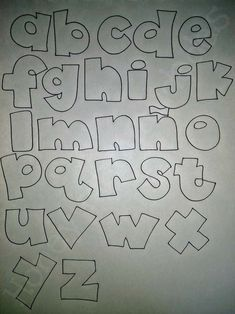 Graffiti Lettering Fonts, Hand Lettering Fonts, Doodle Lettering, Lettering Tutorial, Funny Letters, Cute Letters, Fancy Handwriting, Hand Lettering Practice, Bullet Journal Writing