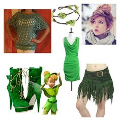 """""""Pirate like Tinker Bell"""" by randomrainbowbitch ❤ liked on Polyvore featuring Alice + Olivia"""