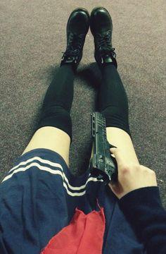 Imagem de gun and japanese