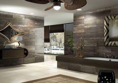 Azteca Ceramica - Baños Colección Cosmos 3060 #azulejo #tile #estilo #tendencia #interiordesign #baño #metallic #decorative
