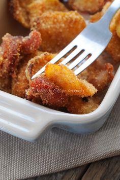 Patate e straccetti di pollo panati al formaggio vickyart arte in cucina