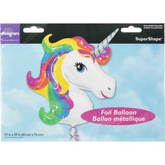 Let the party animals loose and have a truly wild celebration with the Amscan Unicorn Balloon. With its magical unicorn design, it's the perfect decoration for children's birthday parties and loads of other special occasions. It's fabulous on its own, or you can team it with other foil and latex balloons to create a fun balloon bouquet. Fill it with air for a classic look, or use helium to make it float - just head in to your nearest Big W Store to inflate.