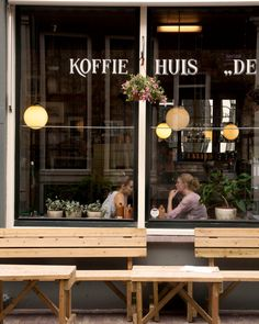 Cafe Culture AmsterdamKoffie HuisA Coffee House by sarahnatsumi, $30.00