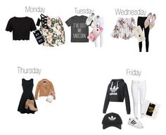 Days of the week outfits! by wilsonleslie-wilson on Polyvore featuring polyvore, Emporio Armani, Ted Baker, adidas, Marc New York, Boohoo, Barbour, Vans, Sole Society, Topshop, Samsung, Casetify, Iphoria, fashion, style and clothing