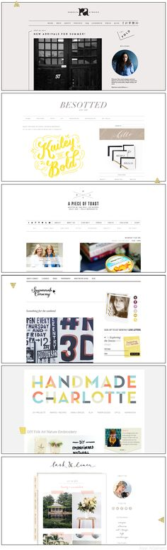 Beautiful Blog Designs - Noor AlQahtani {last blog: all the fonts of lark & linen}