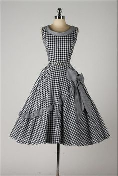 Gingham Black and White
