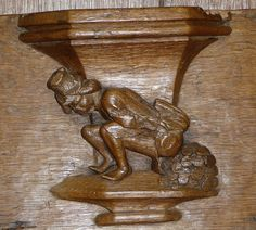 Misericord, Oude Kerk, Amsterdam, Holland | Flickr - Photo Sharing! Mercy Seat, Car Hood Ornaments, Cathedral Church, Panelling, Wood Carvings, Ancient Art, Mythical Creatures, Erotic Art, Archaeology