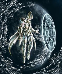 Saint Seiya - Gold Saint Aquarius no Circular by SpaceWeaver