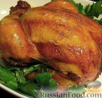 Фото к рецепту: Курица, запеченная целиком