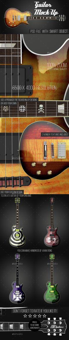 Guitar Mock-Up. #design, #mockup   Download: http://graphicriver.net/item/guitar-mockup/14648826