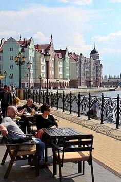 The city of Kaliningrad, Baltic Sea, Russia