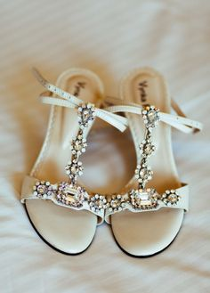 Bejeweled shoes: http://www.stylemepretty.com/canada-weddings/2014/07/22/romantic-vintage-inspired-wedding/ | Photography: Joel Bedford - http://joelbedfordweddings.ca/
