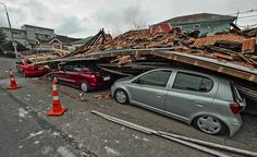 Cars crushed 22 Feb 2011 New Zealand Earthquake, Rarotonga Cook Islands, Broken City, Christchurch New Zealand, City Office, 2nd City, Central Business District, Close To Home