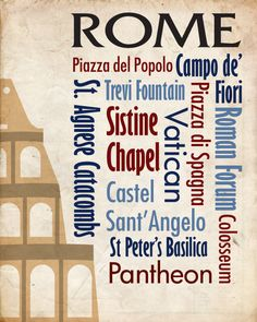 Sights of Rome Poster
