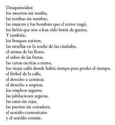 Galeano: Recorremos tus palabras andantes.: Desaparecidos. Eduardo Galeano.