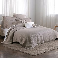 Envelop yourself in sublime comfort with the irresistibly soft and plush Pure Indulge Duvet Cover. This bedding boasts a touchable soft hand and calming, natural palette that will transform your bedroom into a haven of relaxation and tranquility.