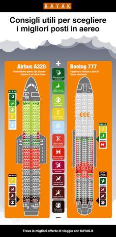 Come scegliere i posti migliori in aereo - Wired #infografica #aerei #aereo #turismo #viaggi