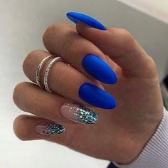 Elegant Nails, Stylish Nails, Trendy Nails, Almond Acrylic Nails, Cute Acrylic Nails, Gel Nails, Perfect Nails, Gorgeous Nails, Bright Nail Designs