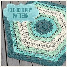 Cloudberry Afghan pattern. English pattern at bottom