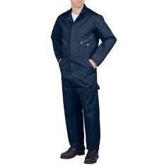 Men's Dickies Deluxe Coverall, Size: X Lrge M/R, Dark Blue