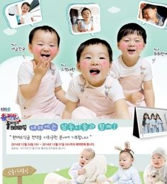 """Superman Returns"" Song Triplets' Calendar Makes Almost One Billion Won, May Sell over Copies Song Il Gook, Triplet Babies, Baby Tech, I Miss You Guys, Song Triplets, Baby Sleepers, 3rd Baby, Organic Baby, Organic Cotton"
