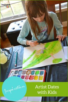 LOTS of fantastic ideas for artist dates with kids