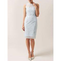 Buy Hobbs Berkeley Lace Dress, Pale Green Silver Online at johnlewis.com