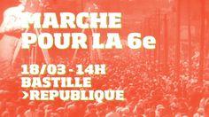 Marche pour la 6e République - 18 mars - Bastille