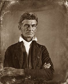 """John Brown. In 1837, in response to the murder of Elijah P. Lovejoy, Brown publicly vowed: """"Here, before God, in the presence of these witnesses, from this time, I consecrate my life to the destruction of slavery!"""""""