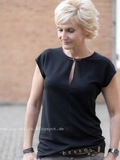 Shirt Schnittanpassung Ausschnitt