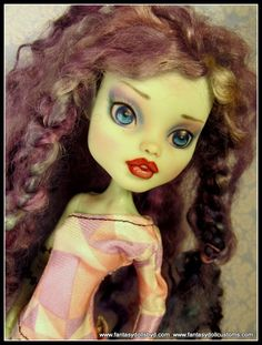 Monster Doll  Repaint  High Quality OOAK Custom by Fantasydolls