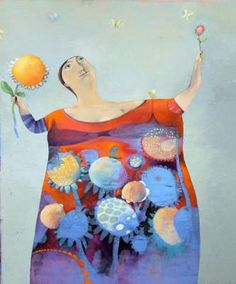 Francis Kilian - Flowers Woman (paintings / oil)