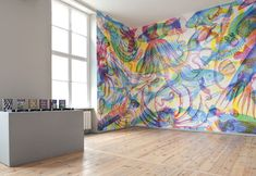 Multi colored large scale wallpaper