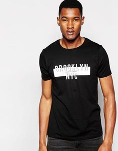 ASOS T-Shirt With Brooklyn NYC Chest Print