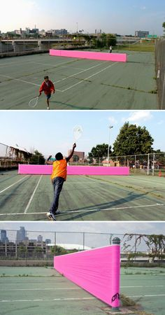 Tennis just got game, and that game is a neon pink net. #weblend