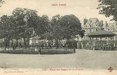 La place des Vosges et le square Louis XIII vers 1900 - Paris 3ème/4ème