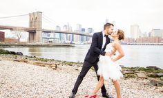 Marine + Kevin brooklyn bridge wedding. NYC wedding photographer Angelica Radway Photography. Bride and groom