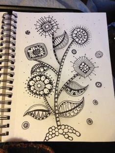 doodle art - Zentangle inspired Mod Flowers! Zentangle like - zentangle inspired - zentangle patterns - #zentangle  #doodleart by penpen
