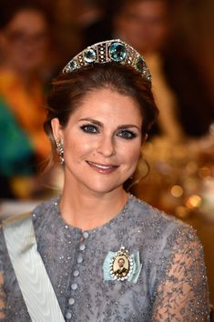 Princess Madeleine of Sweden attends the Nobel Prize Banquet 2015 at City Hall on December 10, 2015 in Stockholm, Sweden.