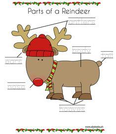 Free Christmas Worksheets for Preschoolers Christmas Worksheets, Preschool Worksheets, Christmas Themes, Reindeer, Teaching, Holiday, Baby, Free, Xmas