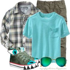 Toddler Boy's Outfit: Dinosaur Shoes - Featuring items from H&M, Target, and Old Navy.