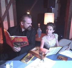 The actors that played Jim Hopper and Eleven on stranger things