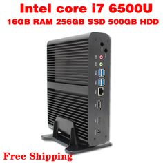 Mini PC Core i7  6500U Max 3.1GHz  16GB RAM 256GB SSD 500GB HDD Micro PC HTPC  Intel HD Graphics 520 TV BOX usb 3.0